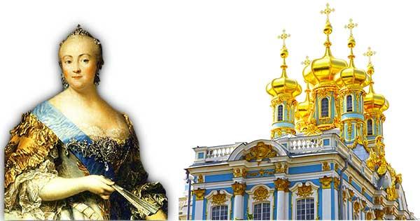 Elisabeth I. und Katharinenpalast in St. Petersburg