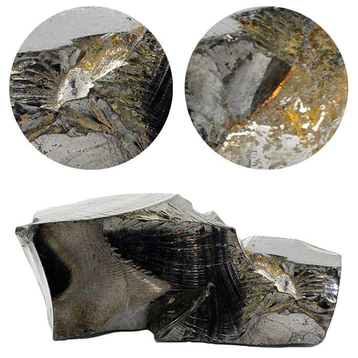 Das Mineral Jarosit auf Edelschungit