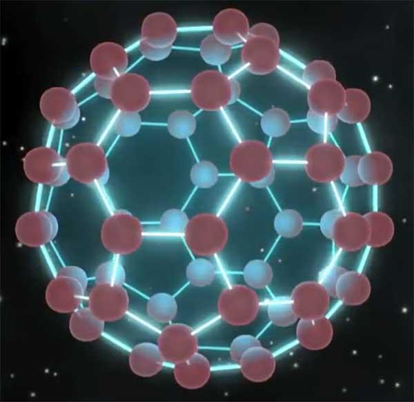C60-Molekül im Sternenstaub