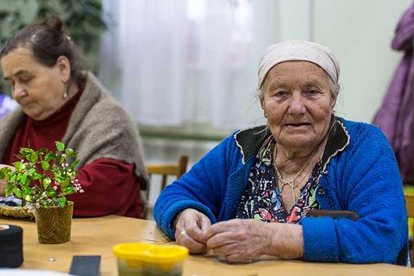 Szene aus russischem Seniorenheim
