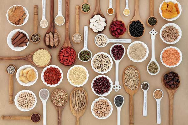 Auswahl an sog. Superfood